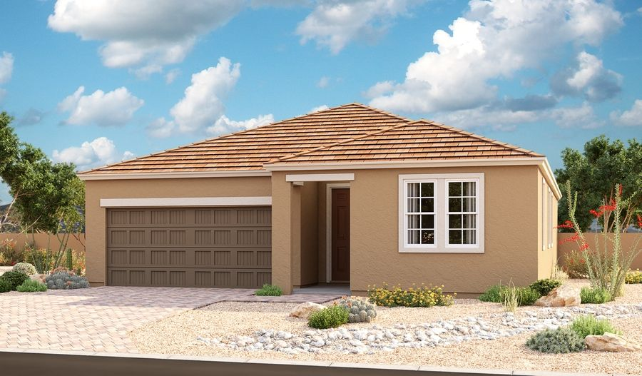 Exterior featured in the Onyx By Richmond American Homes in Phoenix-Mesa, AZ