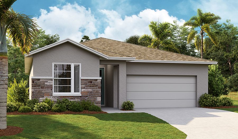 Exterior featured in the Azure By Richmond American Homes in Orlando, FL