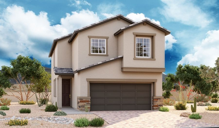 Exterior featured in the Juniper By Richmond American Homes in Las Vegas, NV