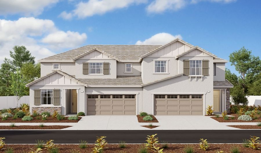 Exterior featured in the Walnut Duo By Richmond American Homes in Riverside-San Bernardino, CA