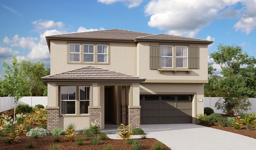 Exterior featured in the Moonstone By Richmond American Homes in Sacramento, CA