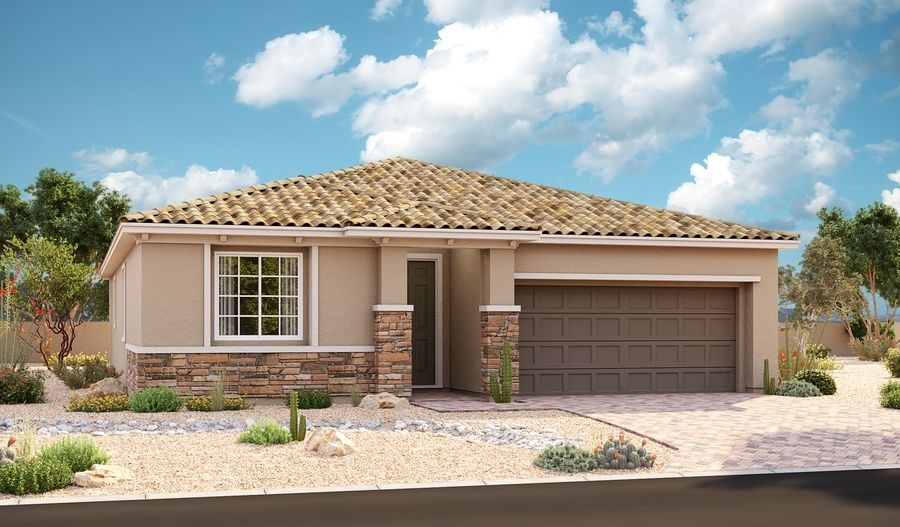 Exterior featured in the Avalon By Richmond American Homes in Las Vegas, NV
