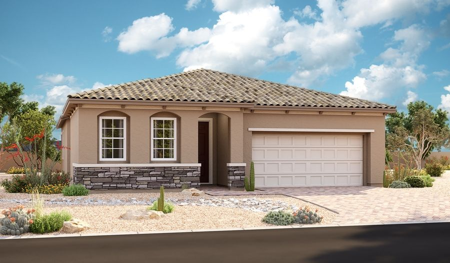 Exterior featured in the Arabelle By Richmond American Homes in Las Vegas, NV