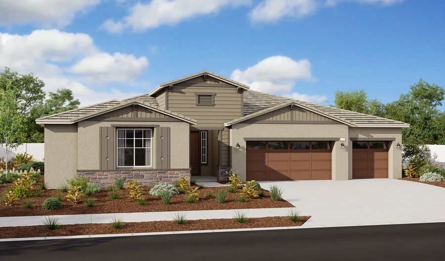 Exterior featured in the Holbrook By Richmond American Homes in Riverside-San Bernardino, CA