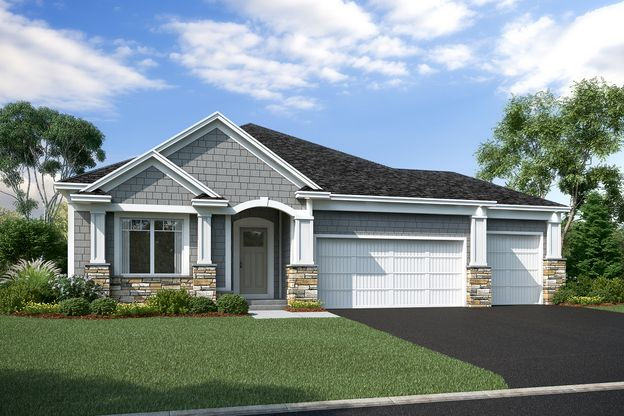 Hillcrest Elevation D – Stone 3-Car