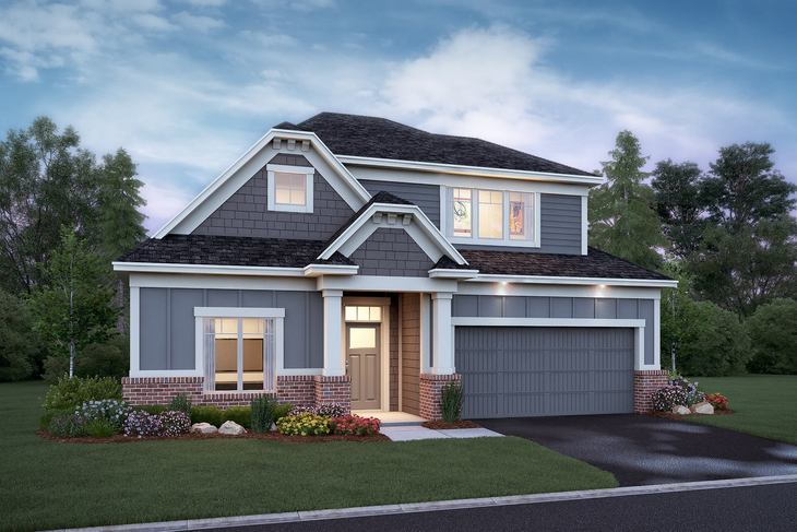 Aspen Elevation A Brick Option