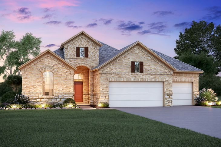 2190 Cedar Elm Elevation A 3 Car