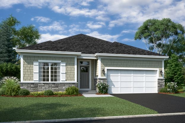 Hillcrest Elevation B – Stone 2-Car