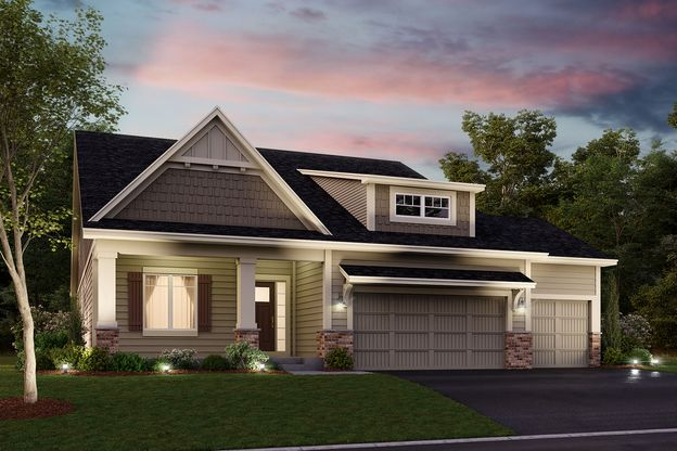 Sycamore Elevation D – Stone 3-Car