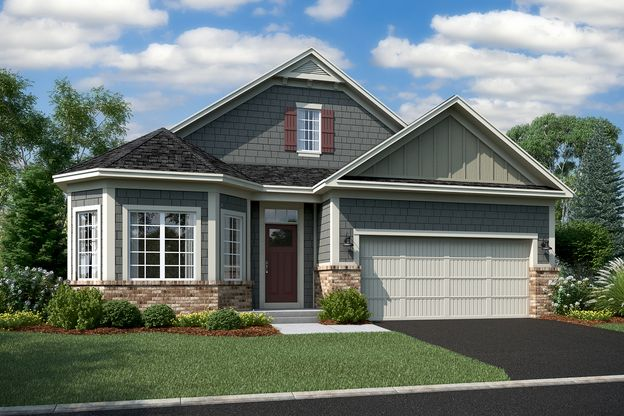 Graystone Elevation C – Brick 2-Car