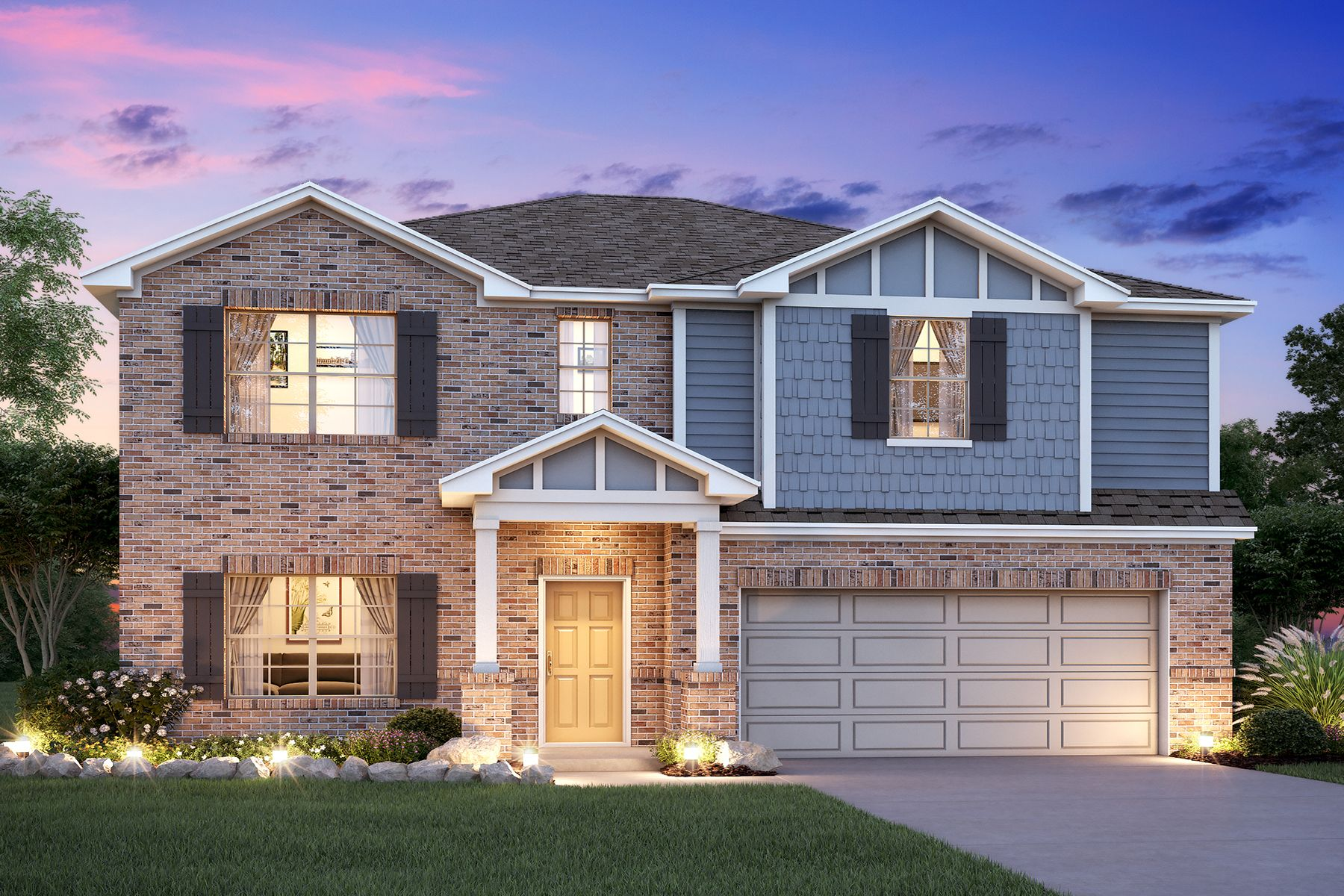 Exterior featured in the Hudson By M/I Homes in Houston, TX