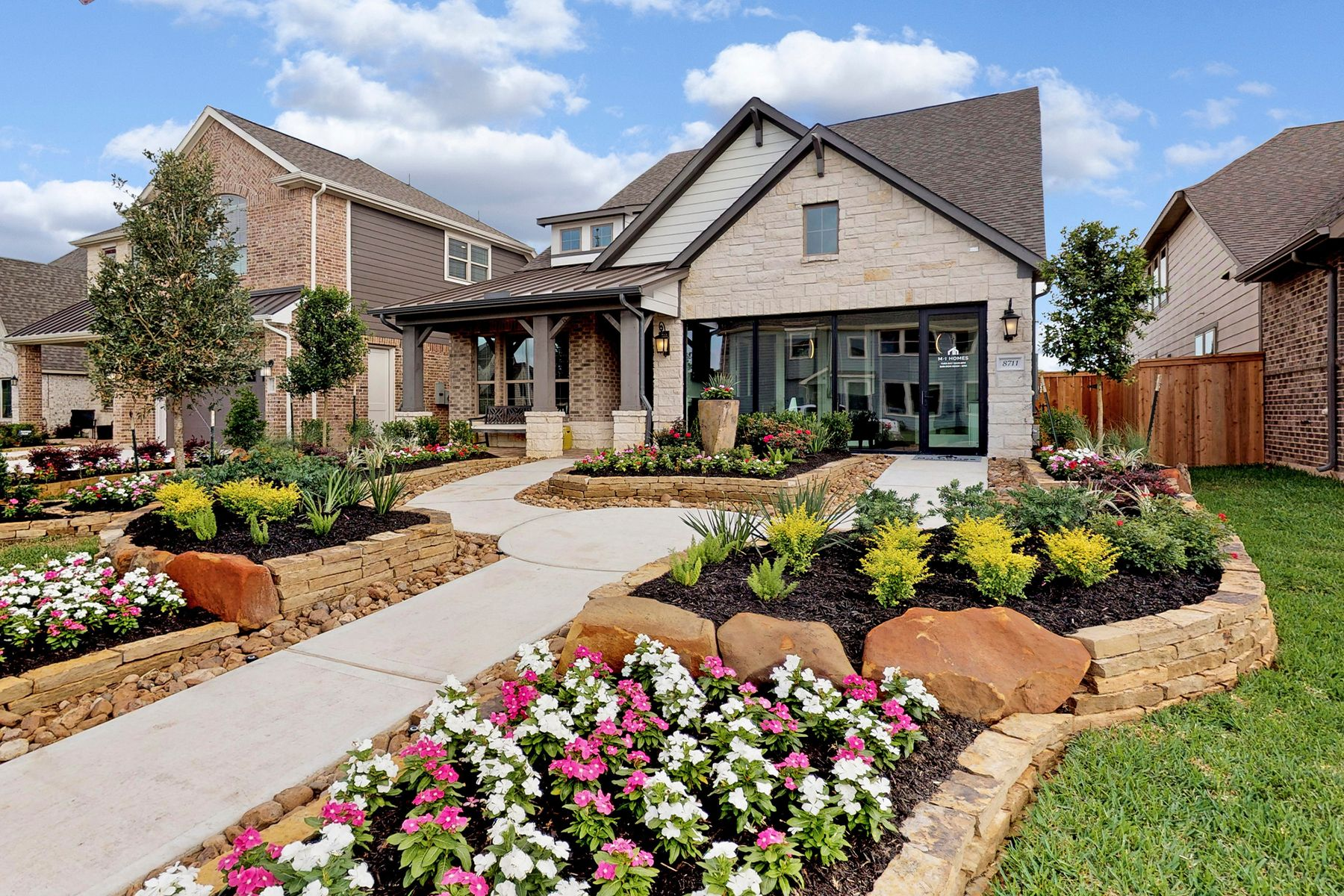 Exterior featured in the Coronado By M/I Homes in Houston, TX
