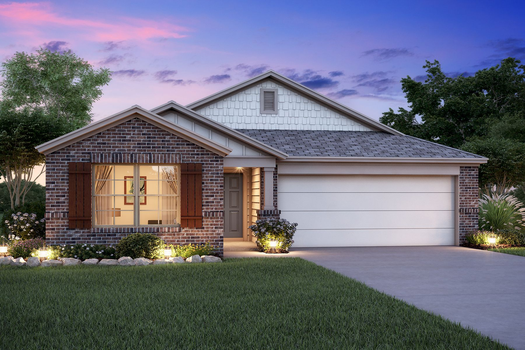 Exterior featured in the Eastland By M/I Homes in Houston, TX