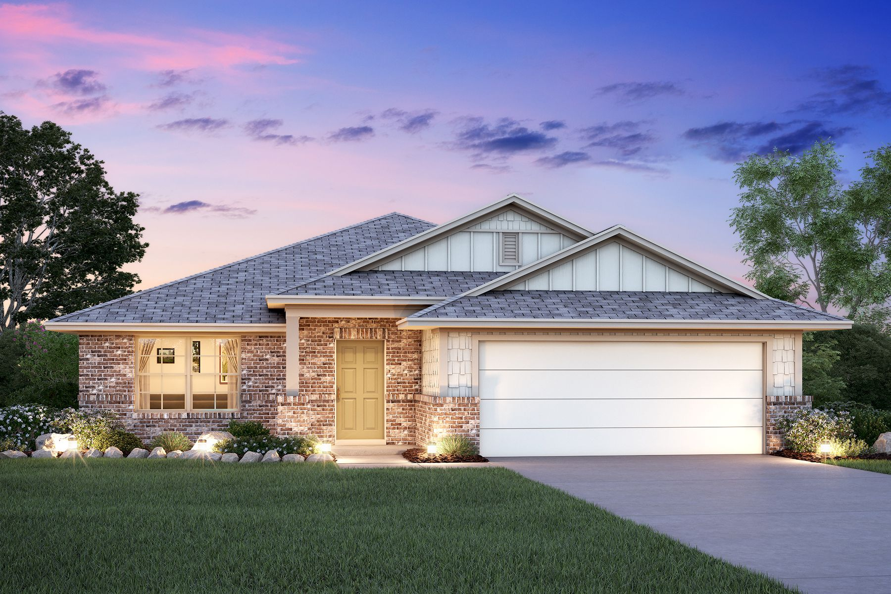 Exterior featured in the Desoto By M/I Homes in San Antonio, TX