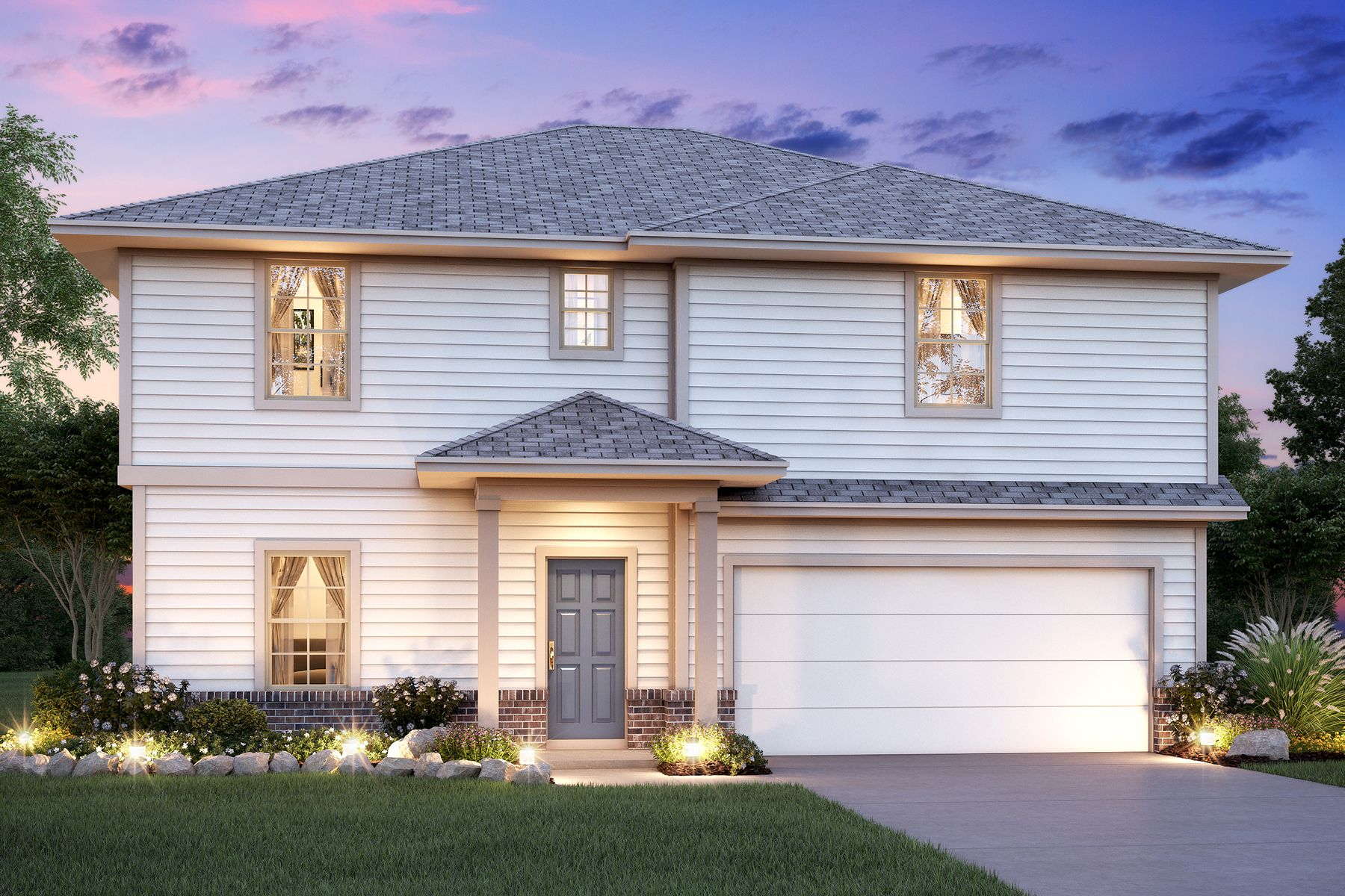 Exterior featured in the Hudson By M/I Homes in San Antonio, TX