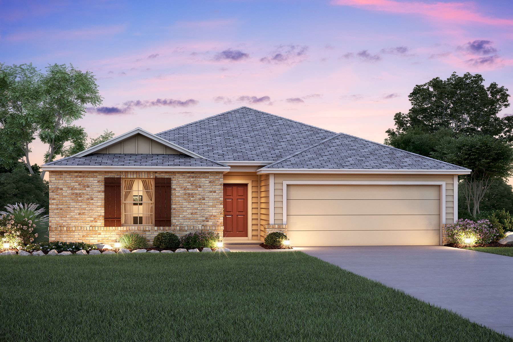 Exterior featured in the Pineda By M/I Homes in San Antonio, TX