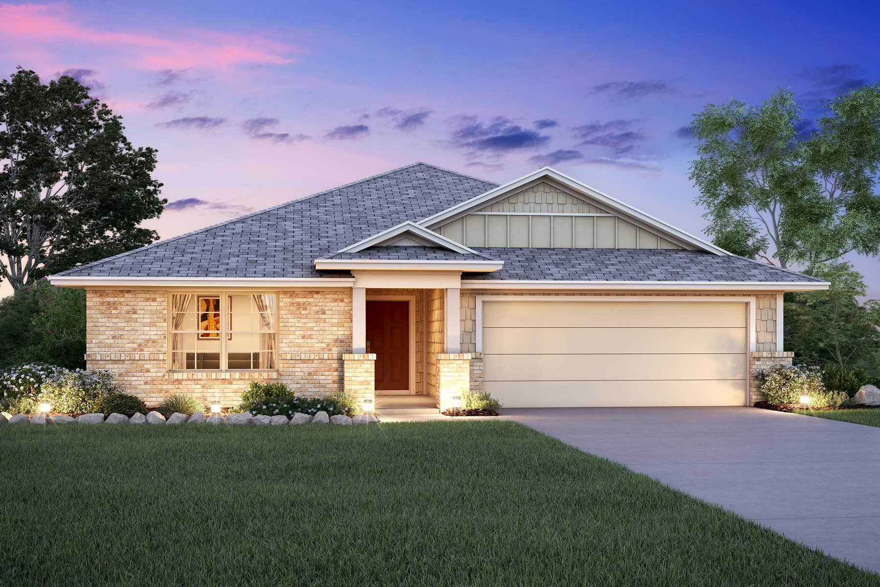 Exterior featured in the Polo By M/I Homes in San Antonio, TX