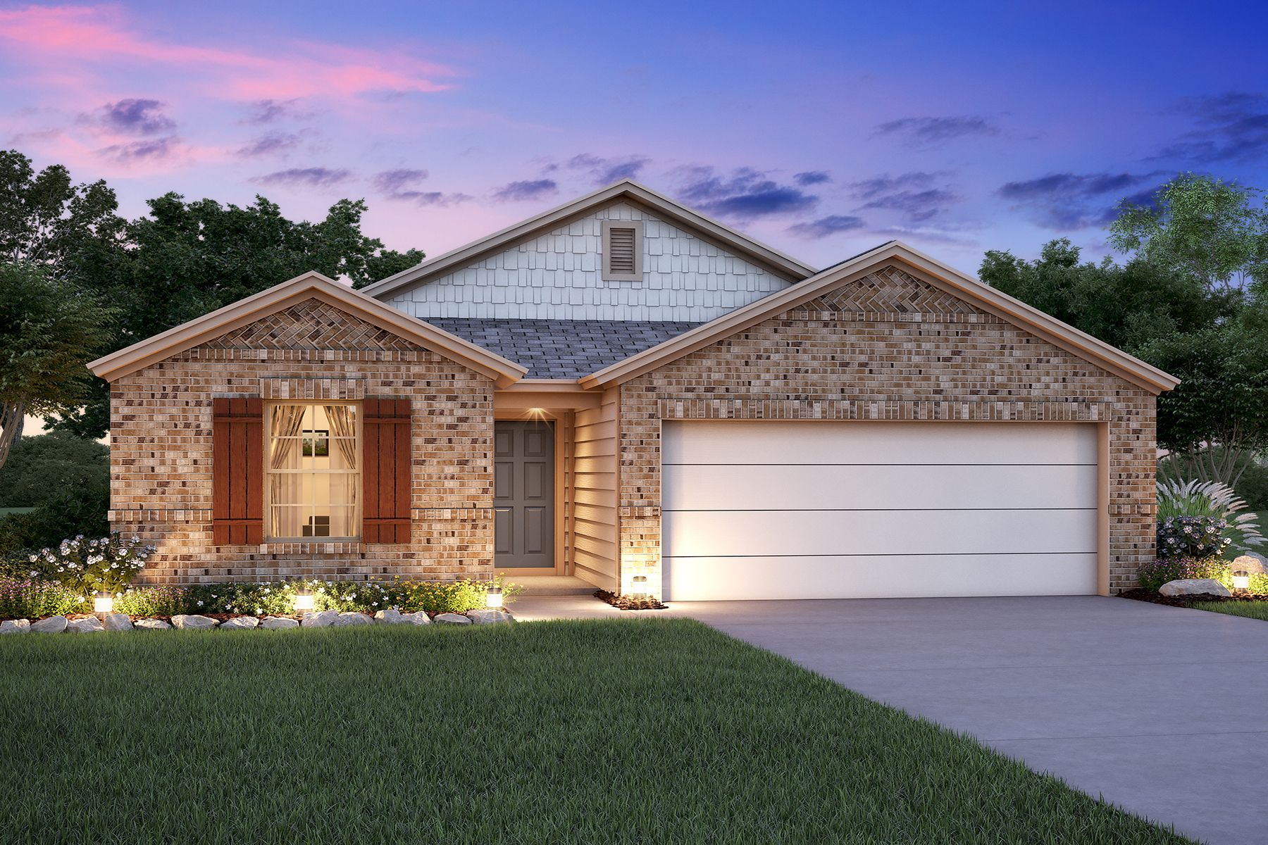 Exterior featured in the Freestone By M/I Homes in San Antonio, TX