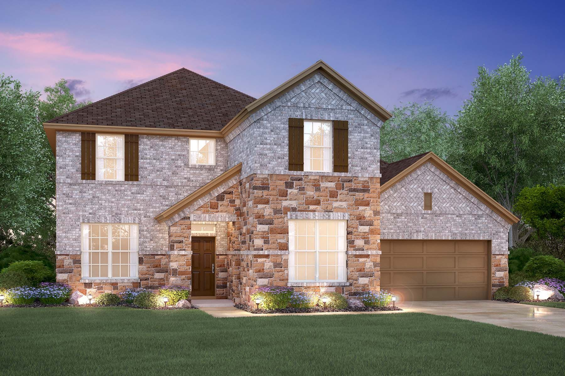Exterior featured in the Medina By M/I Homes in Austin, TX