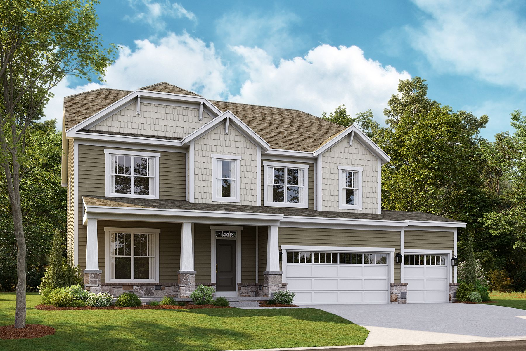 Exterior featured in the Fairbanks By M/I Homes in Detroit, MI
