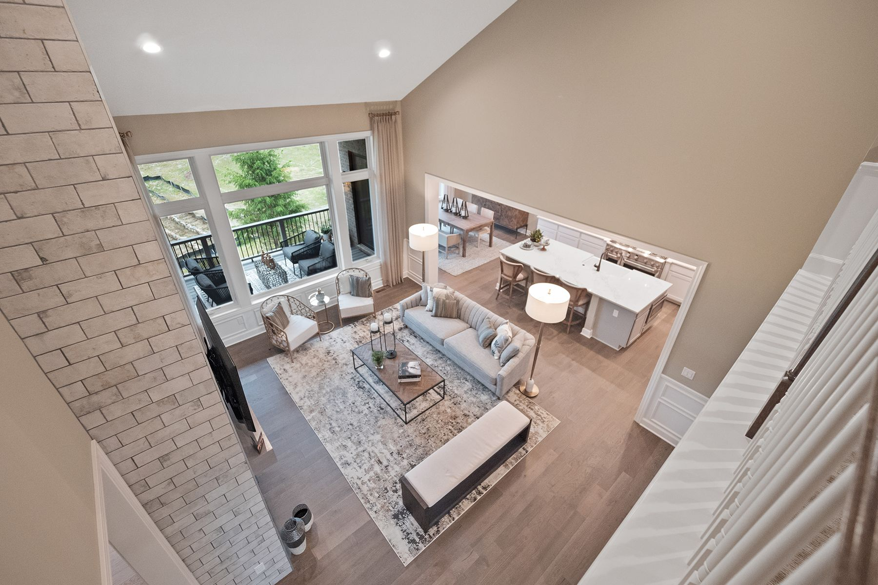 Living Area featured in the Hamilton By M/I Homes in Detroit, MI