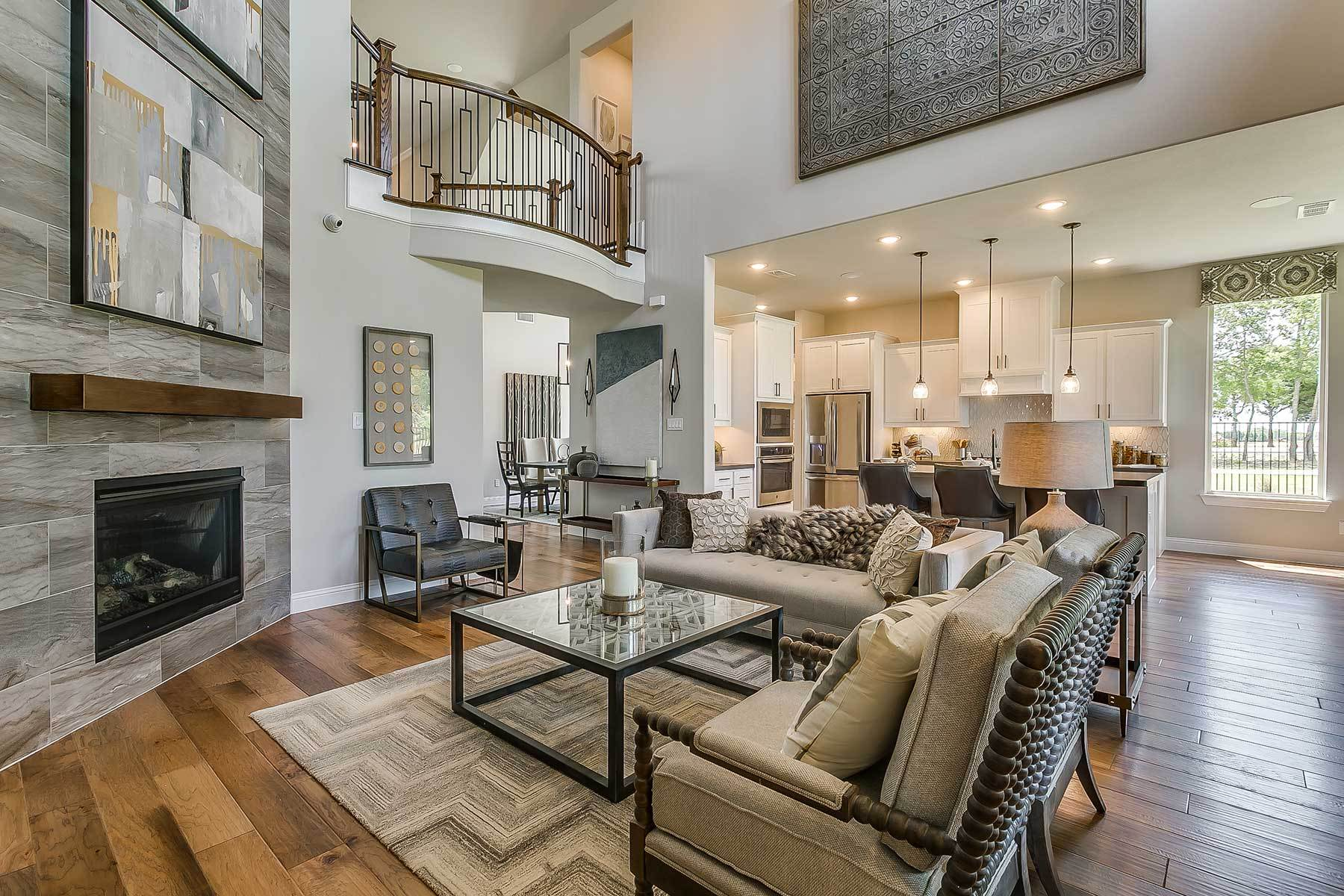 Living Area featured in the Westridge By M/I Homes in Dallas, TX