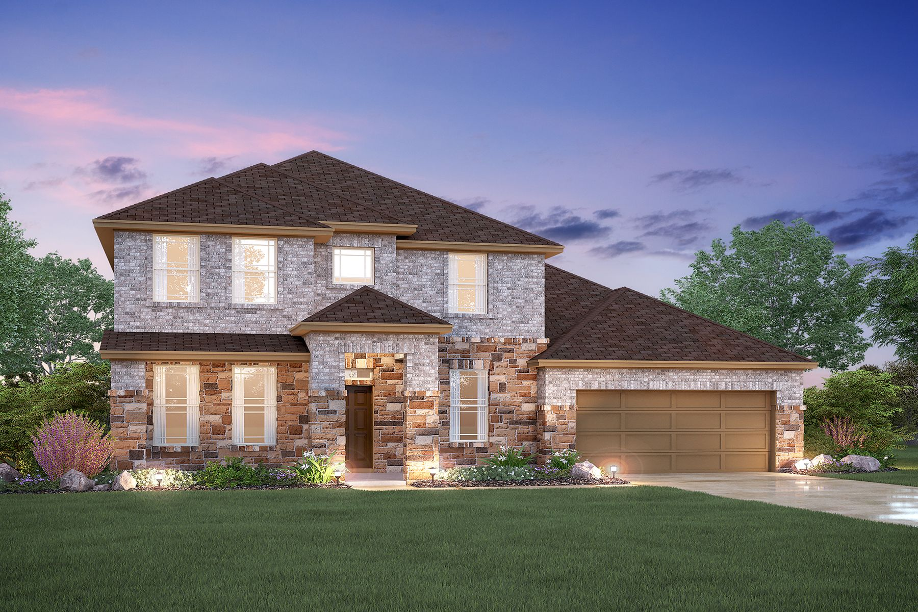 Exterior featured in the Dickinson By M/I Homes in Dallas, TX