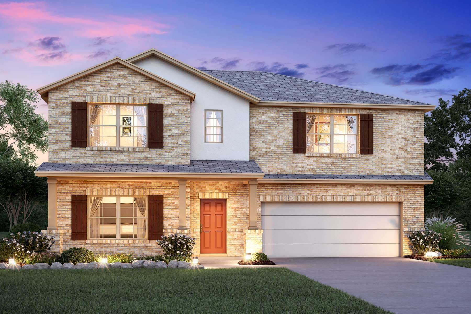 Exterior featured in the Columbus By M/I Homes in Fort Worth, TX