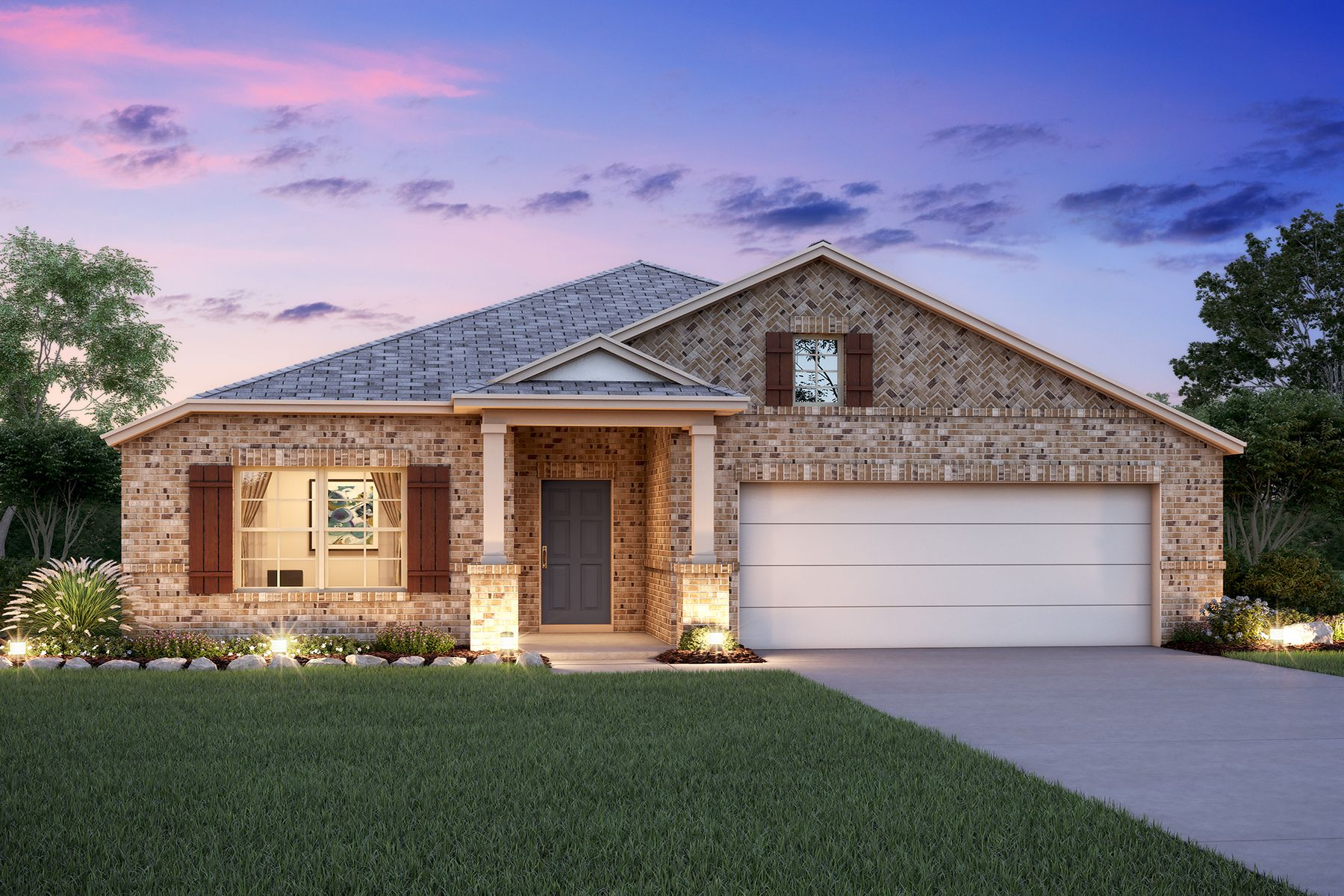 Exterior featured in the Balboa By M/I Homes in Fort Worth, TX