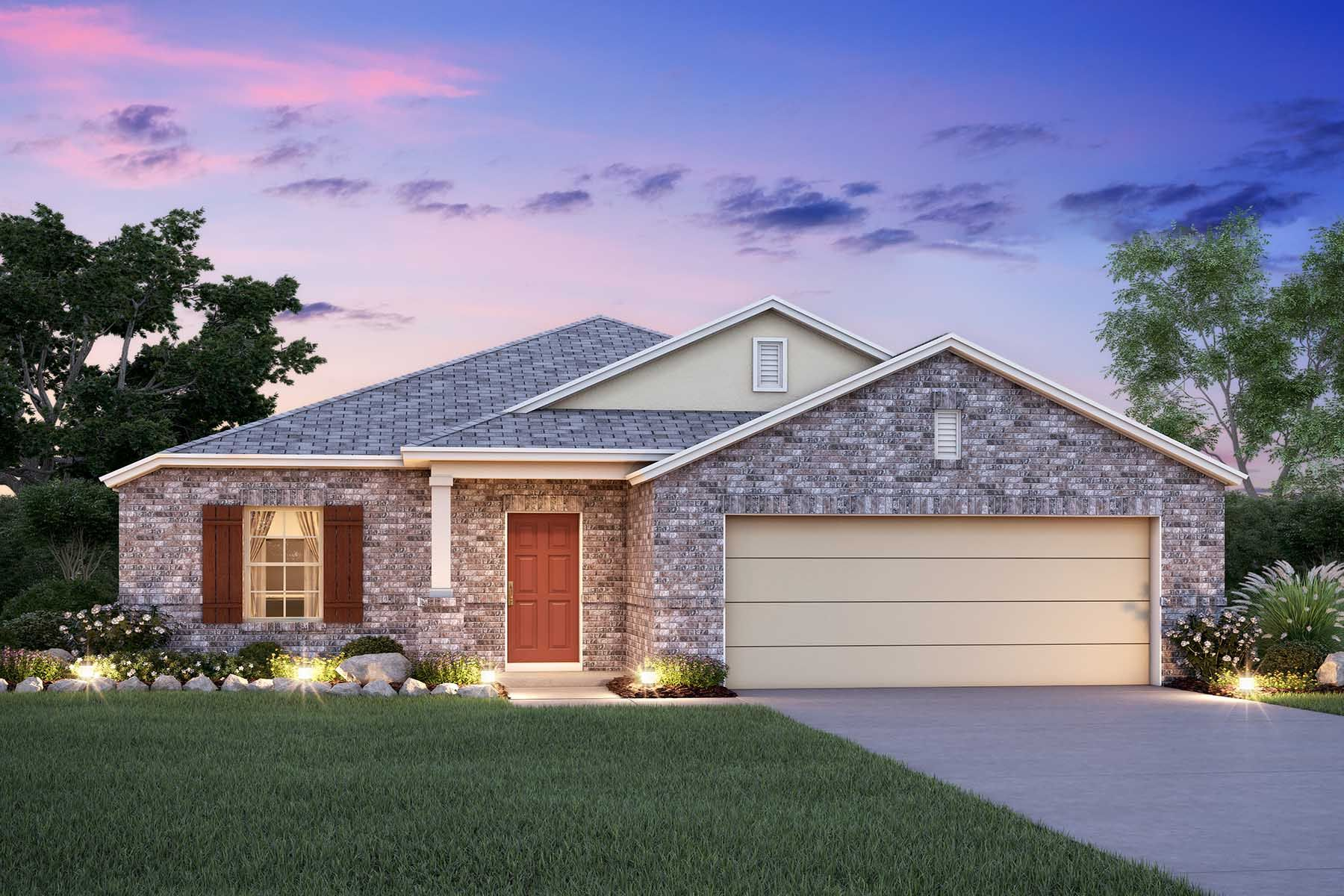 Exterior featured in the Desoto By M/I Homes in Fort Worth, TX