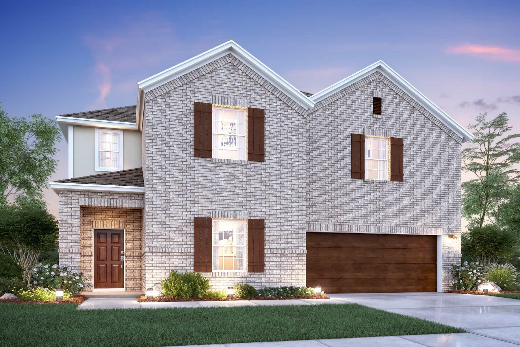 Exterior featured in the Cortez By M/I Homes in Dallas, TX