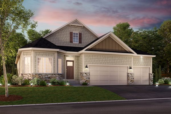 Graystone 3-Car Elevation C - Stone