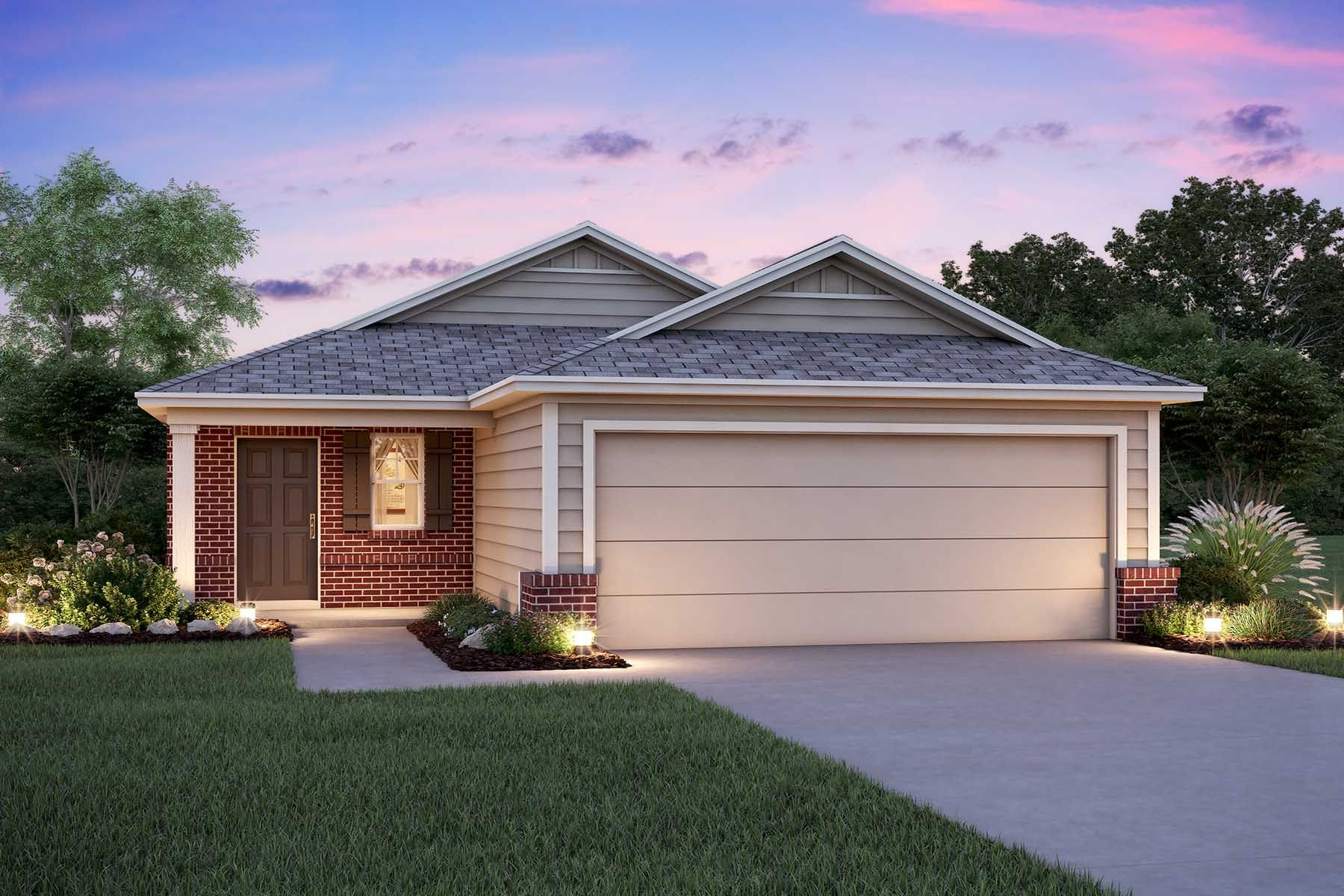 Exterior featured in the Azalea By M/I Homes in San Antonio, TX