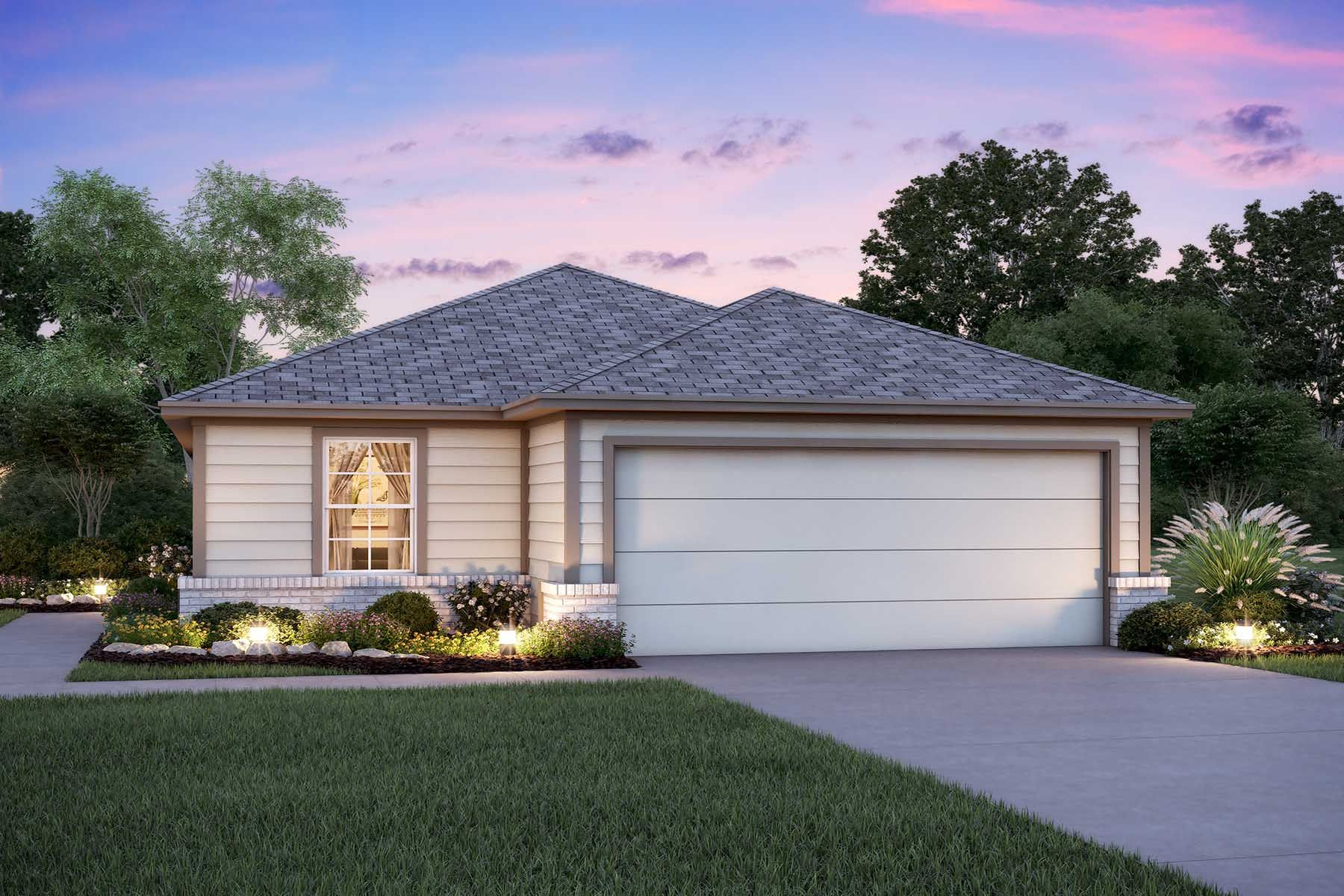 Exterior featured in the Drummond By M/I Homes in San Antonio, TX