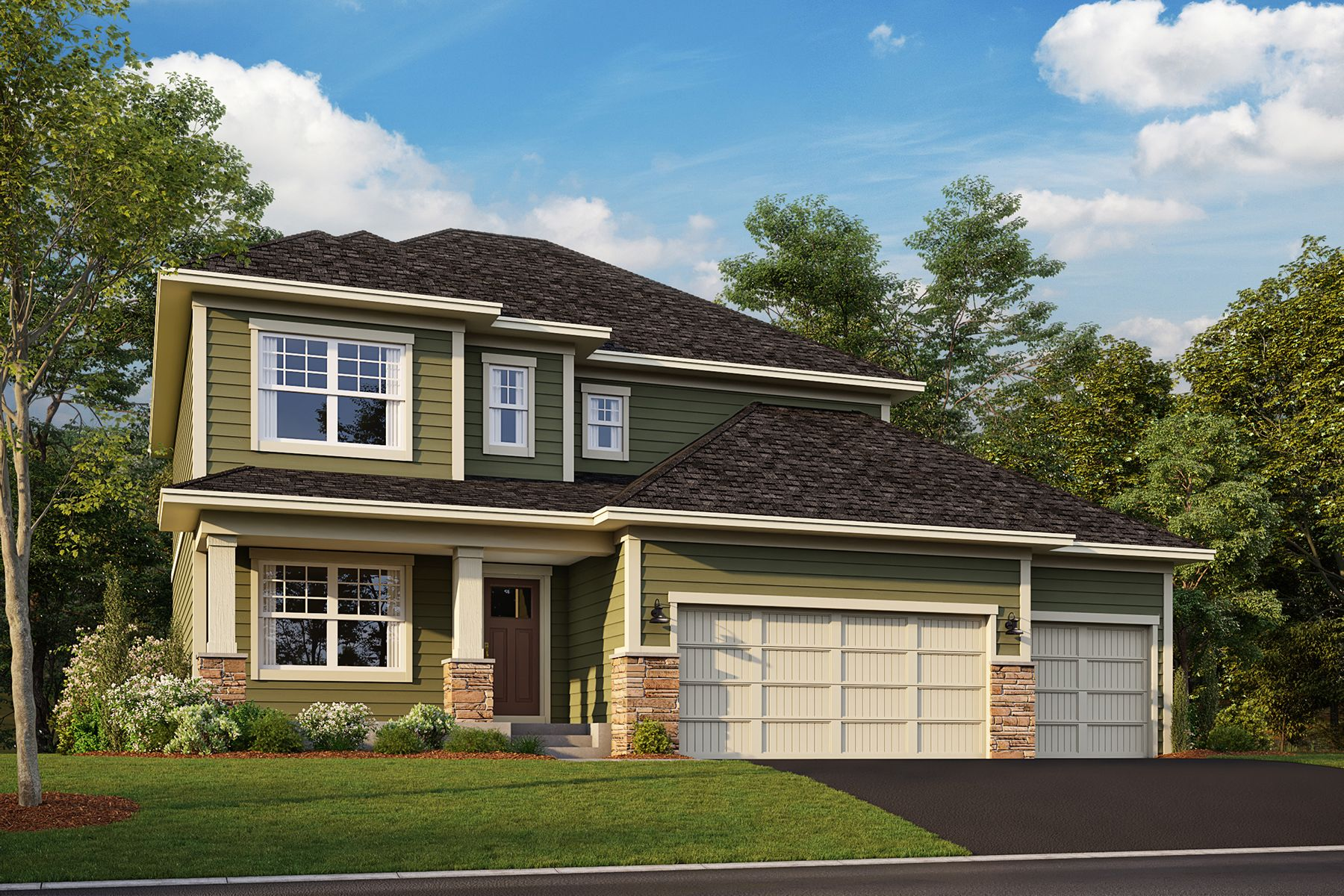 Exterior featured in the Victoria By M/I Homes in Minneapolis-St. Paul, MN