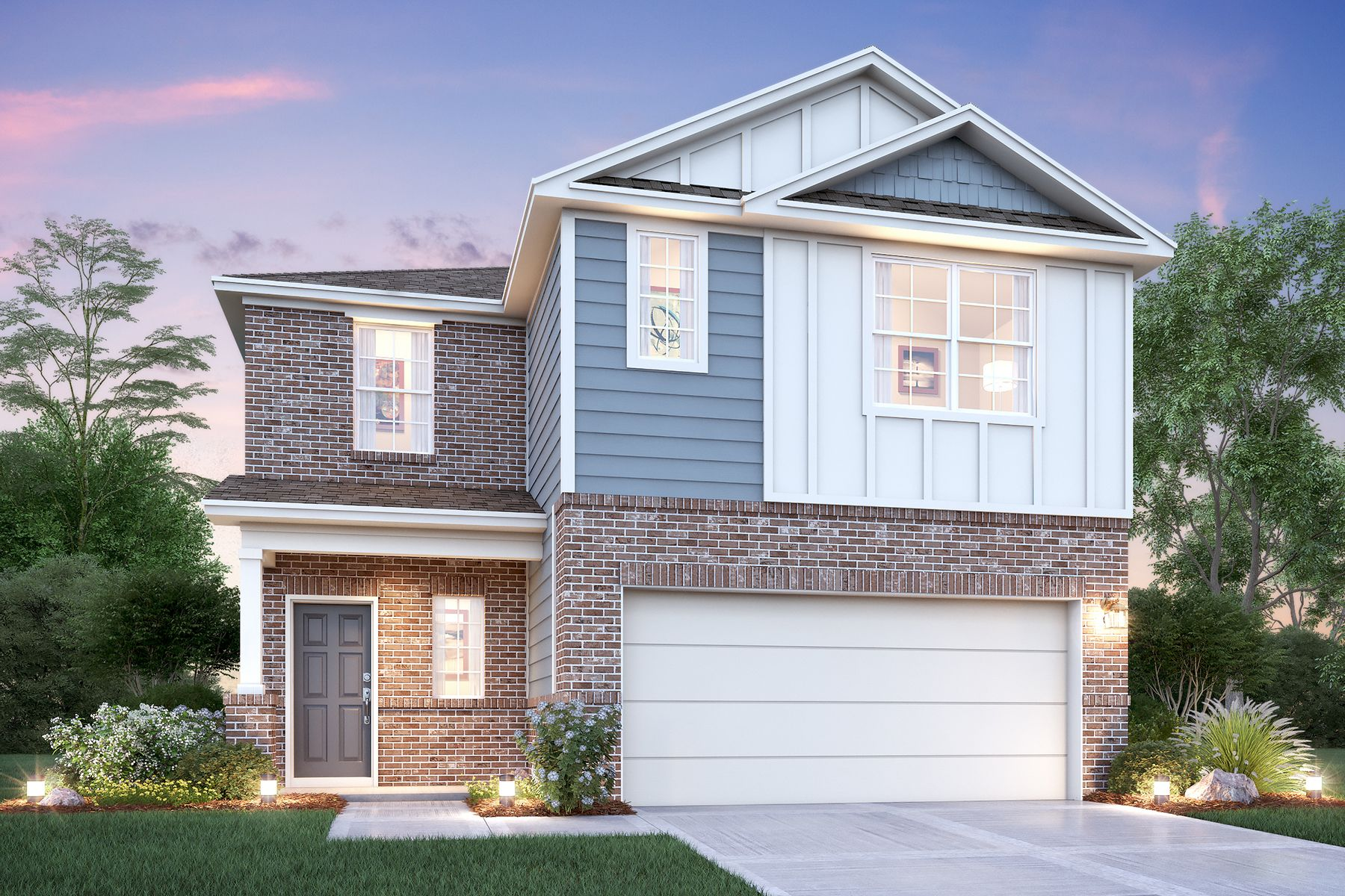 Exterior featured in the Larkspur By M/I Homes in San Antonio, TX