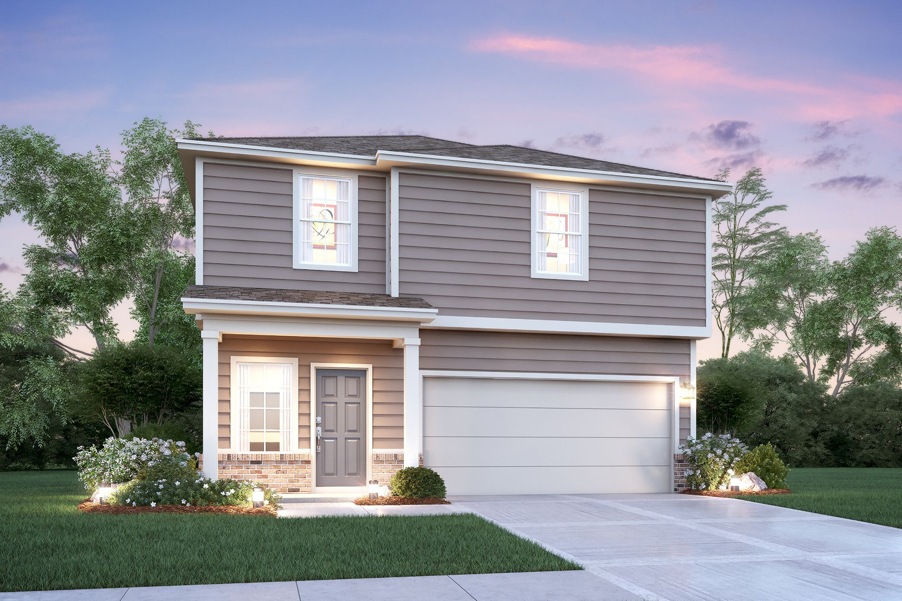 Exterior featured in the Wisteria By M/I Homes in San Antonio, TX