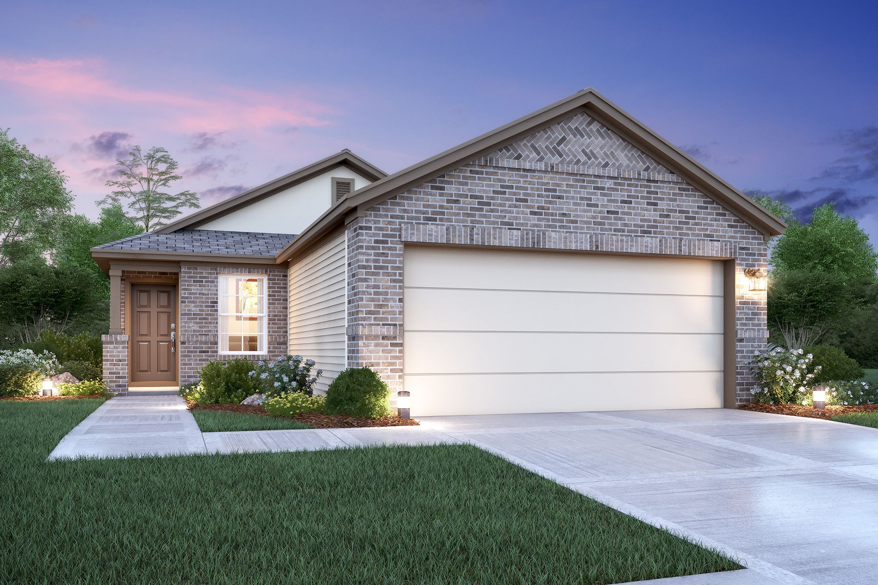 Exterior featured in the Primrose By M/I Homes in San Antonio, TX