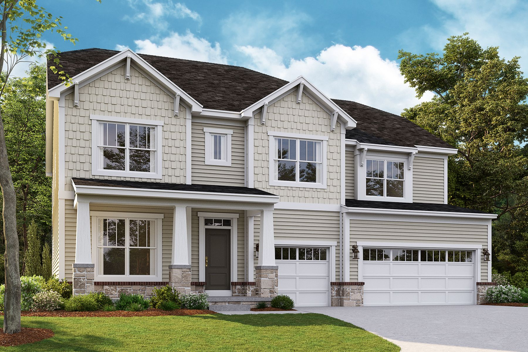 Exterior featured in the Ashford By M/I Homes in Detroit, MI