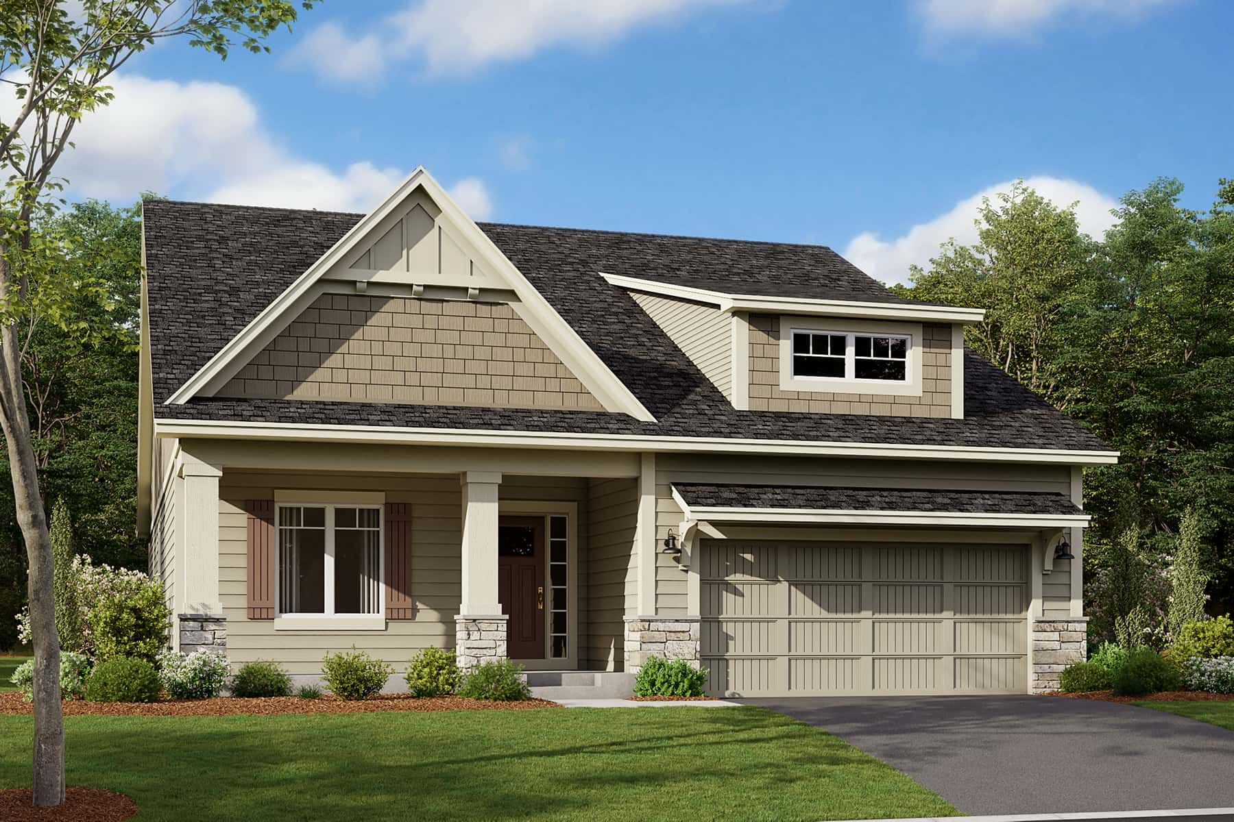 Exterior featured in the Sycamore By M/I Homes in Minneapolis-St. Paul, MN