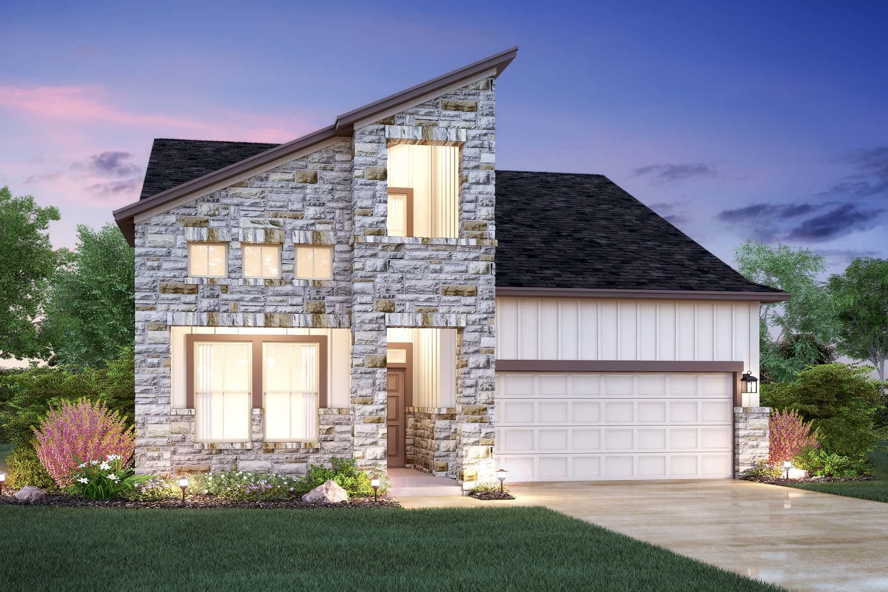 Exterior featured in the Braford By M/I Homes in Austin, TX
