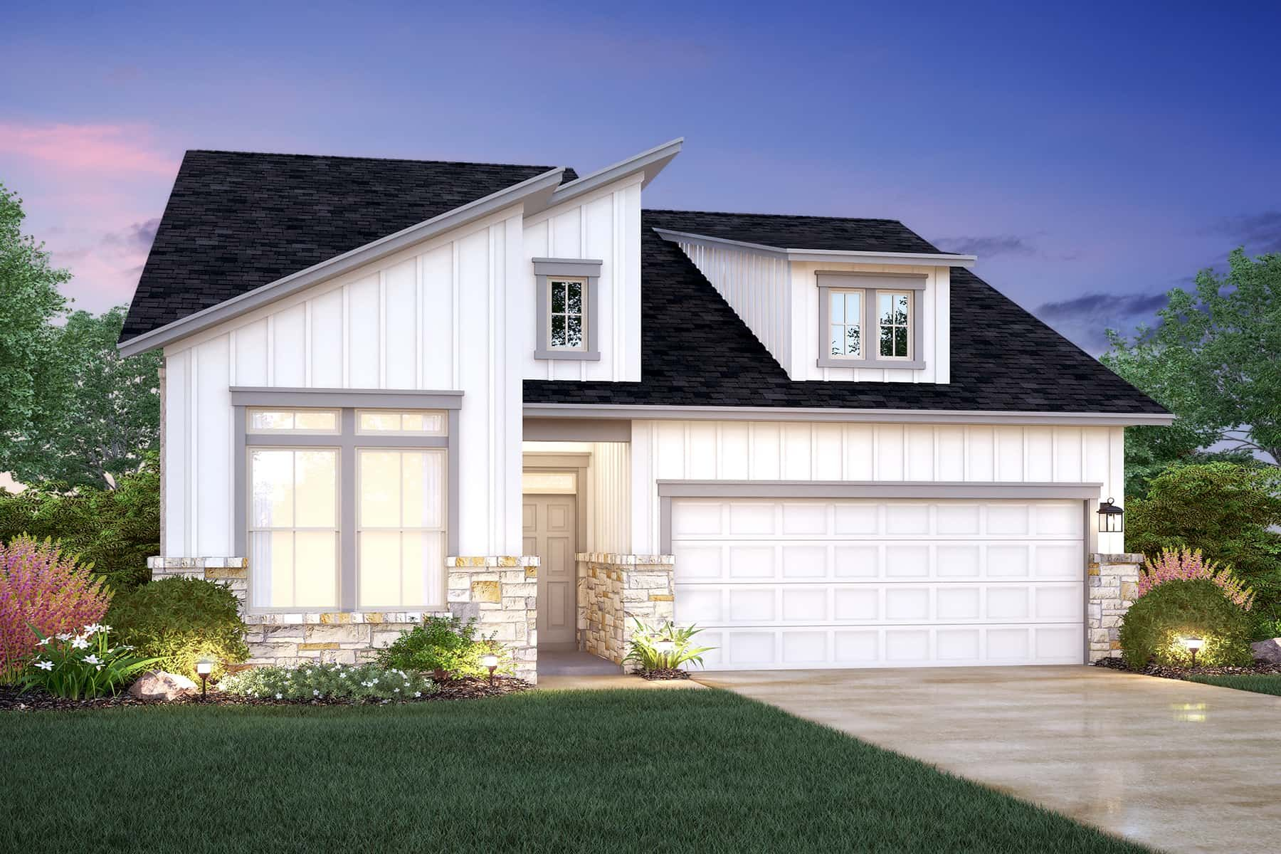 Exterior featured in the Devon By M/I Homes in Austin, TX
