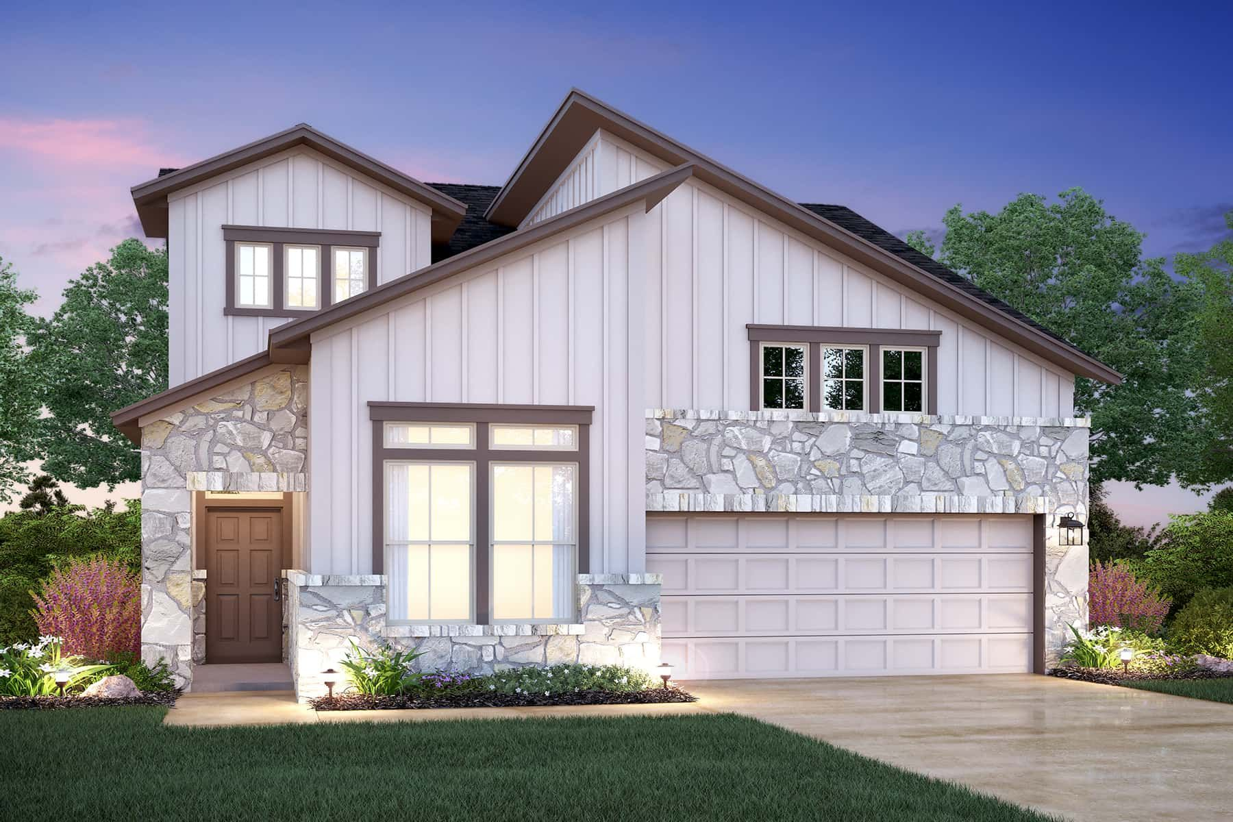 Exterior featured in the Estonian By M/I Homes in Austin, TX