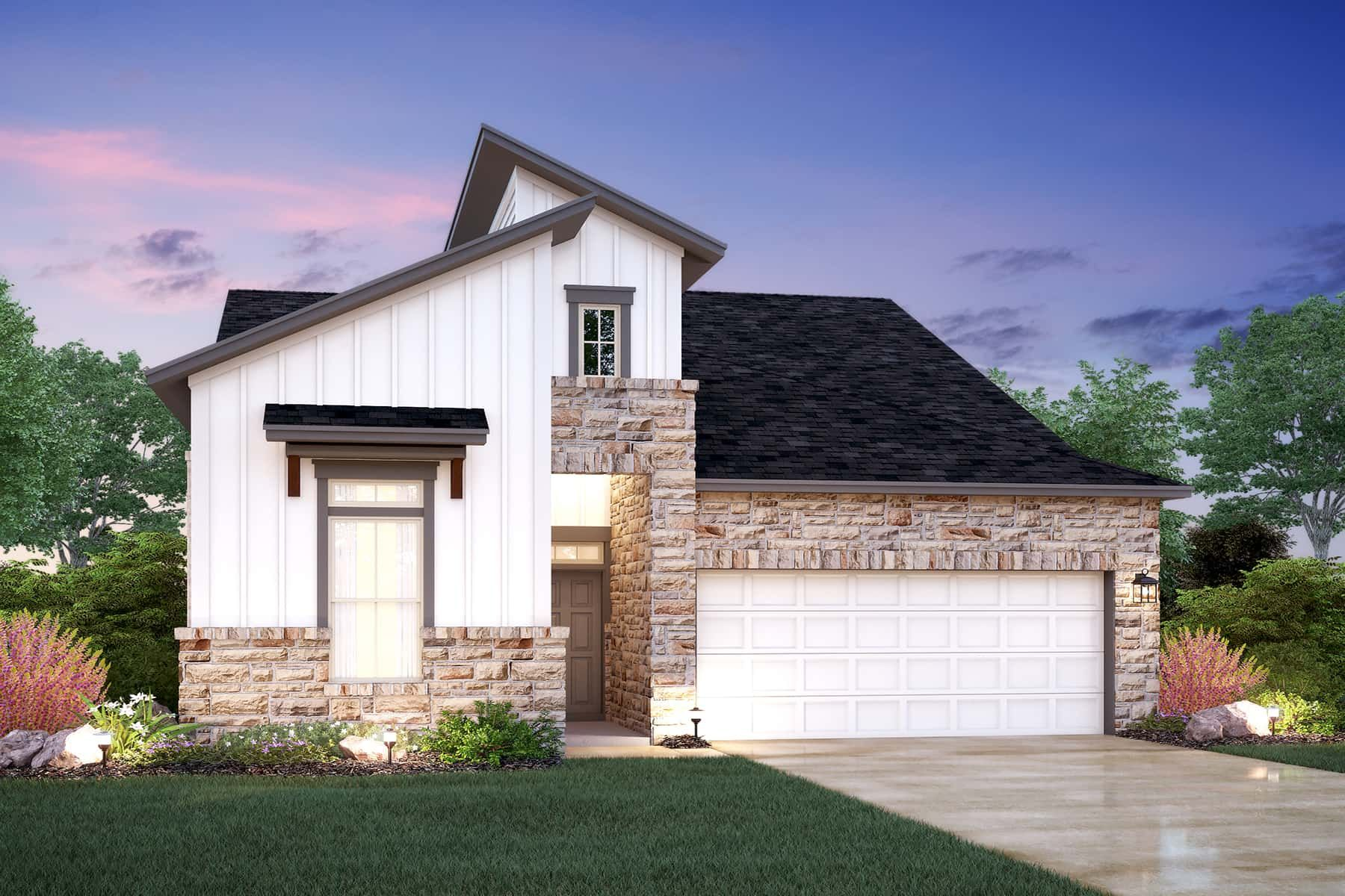 Exterior featured in the Galloway By M/I Homes in Austin, TX