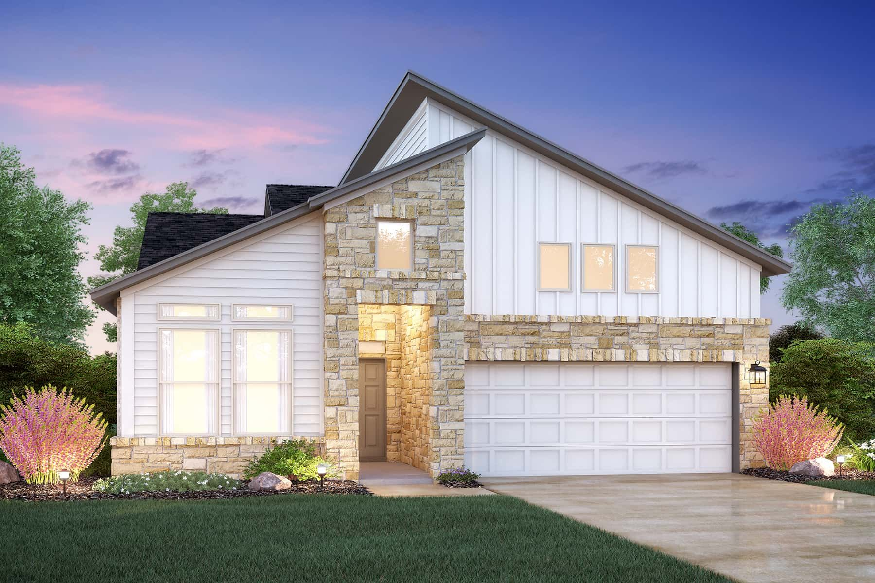 Exterior featured in the Highland By M/I Homes in Austin, TX