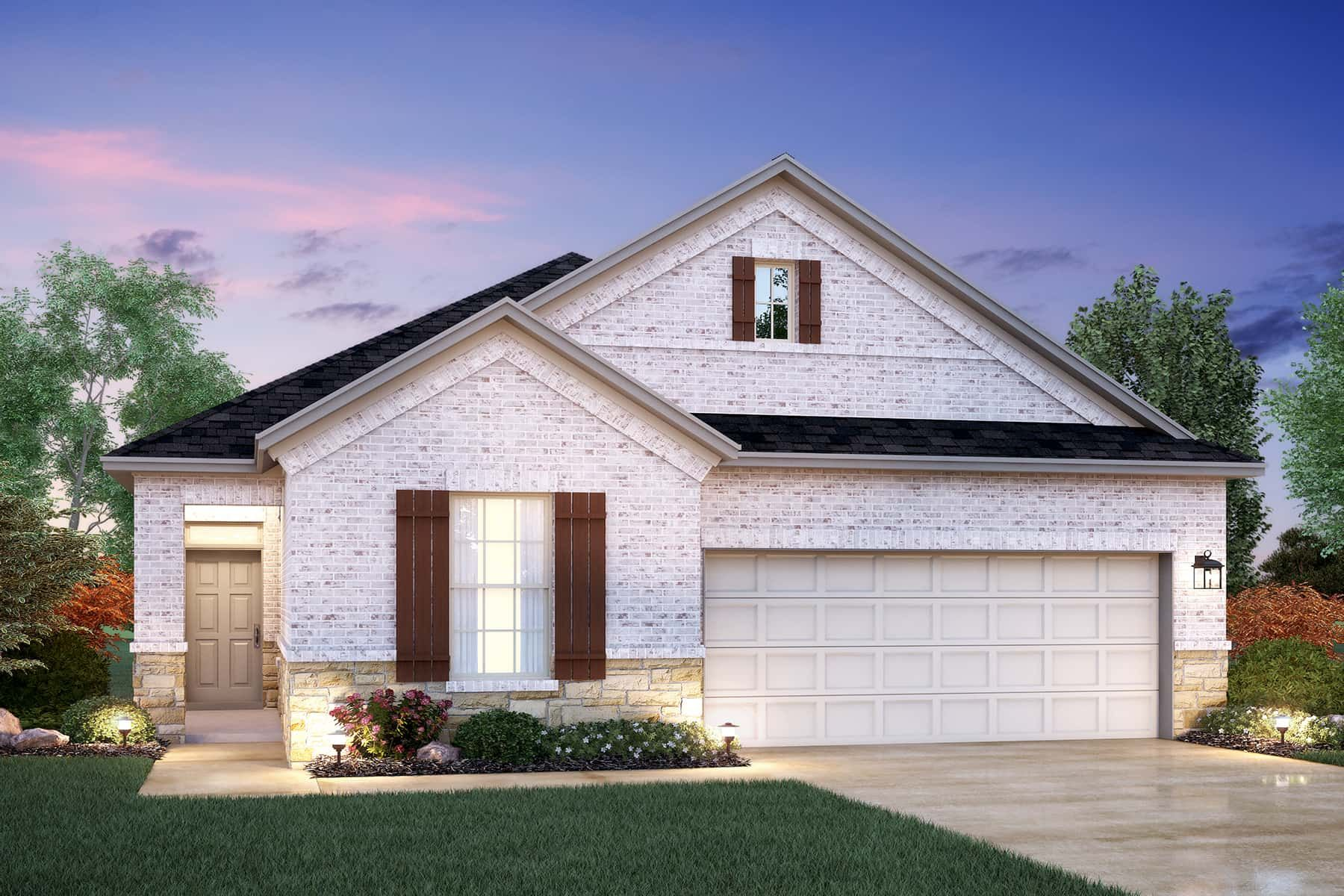 Exterior featured in the Kerry By M/I Homes in Austin, TX