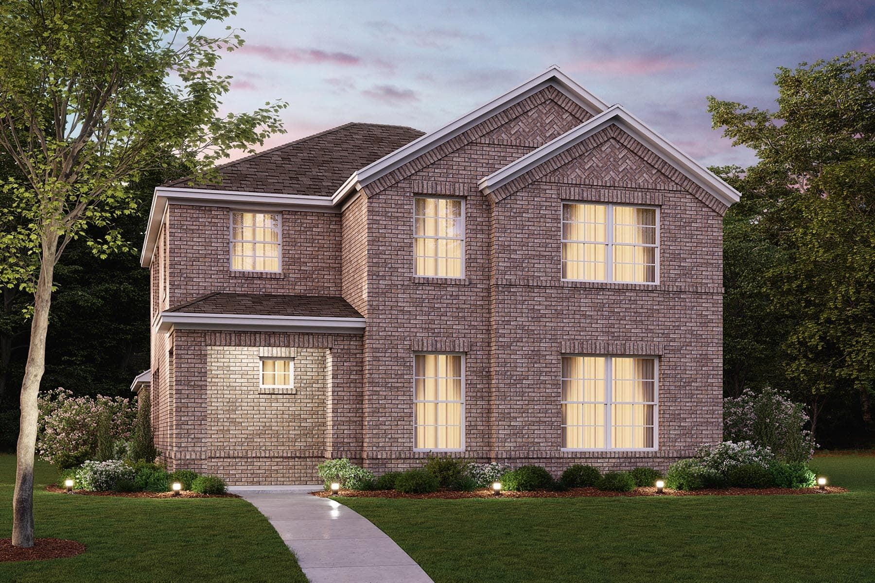 Exterior featured in the Hyacinth By M/I Homes in Dallas, TX