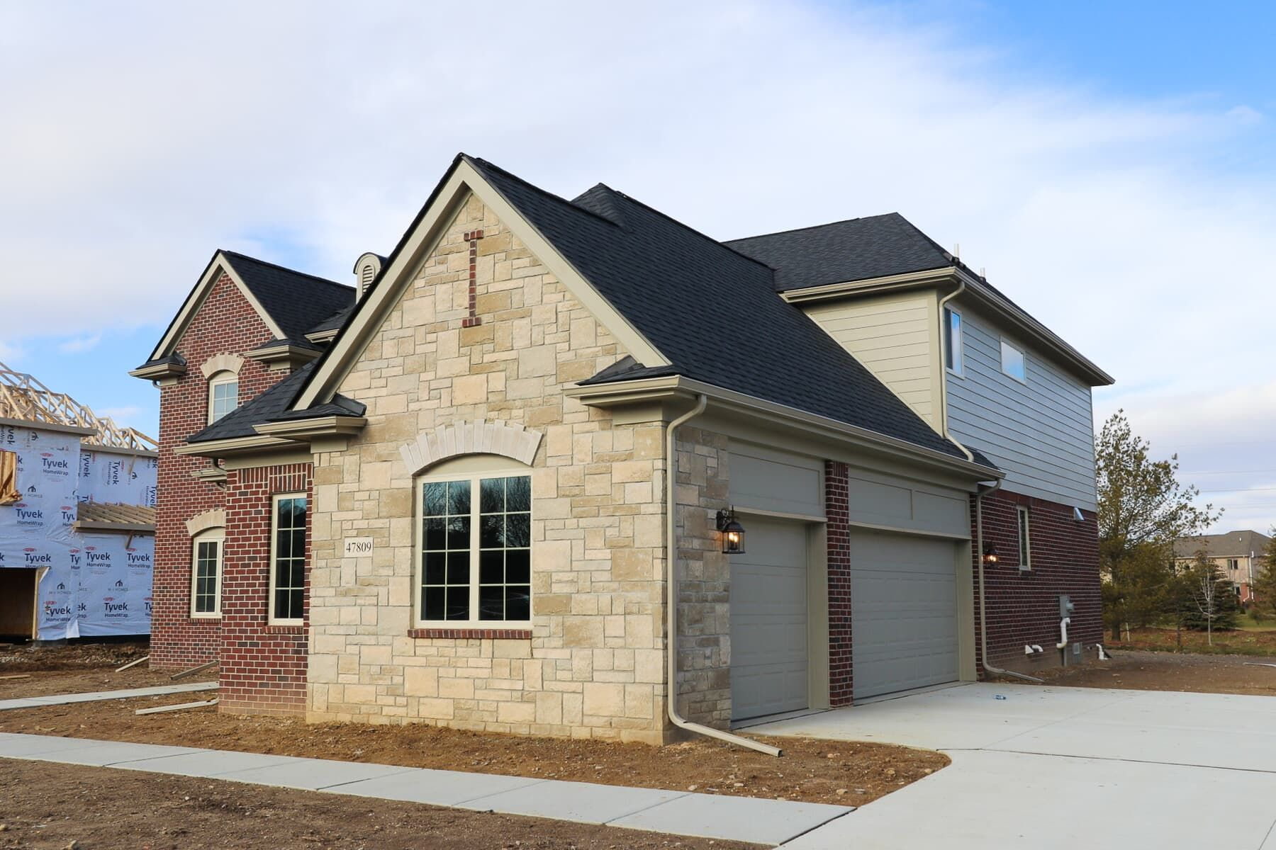 Exterior featured in the Muirfield By M/I Homes in Detroit, MI