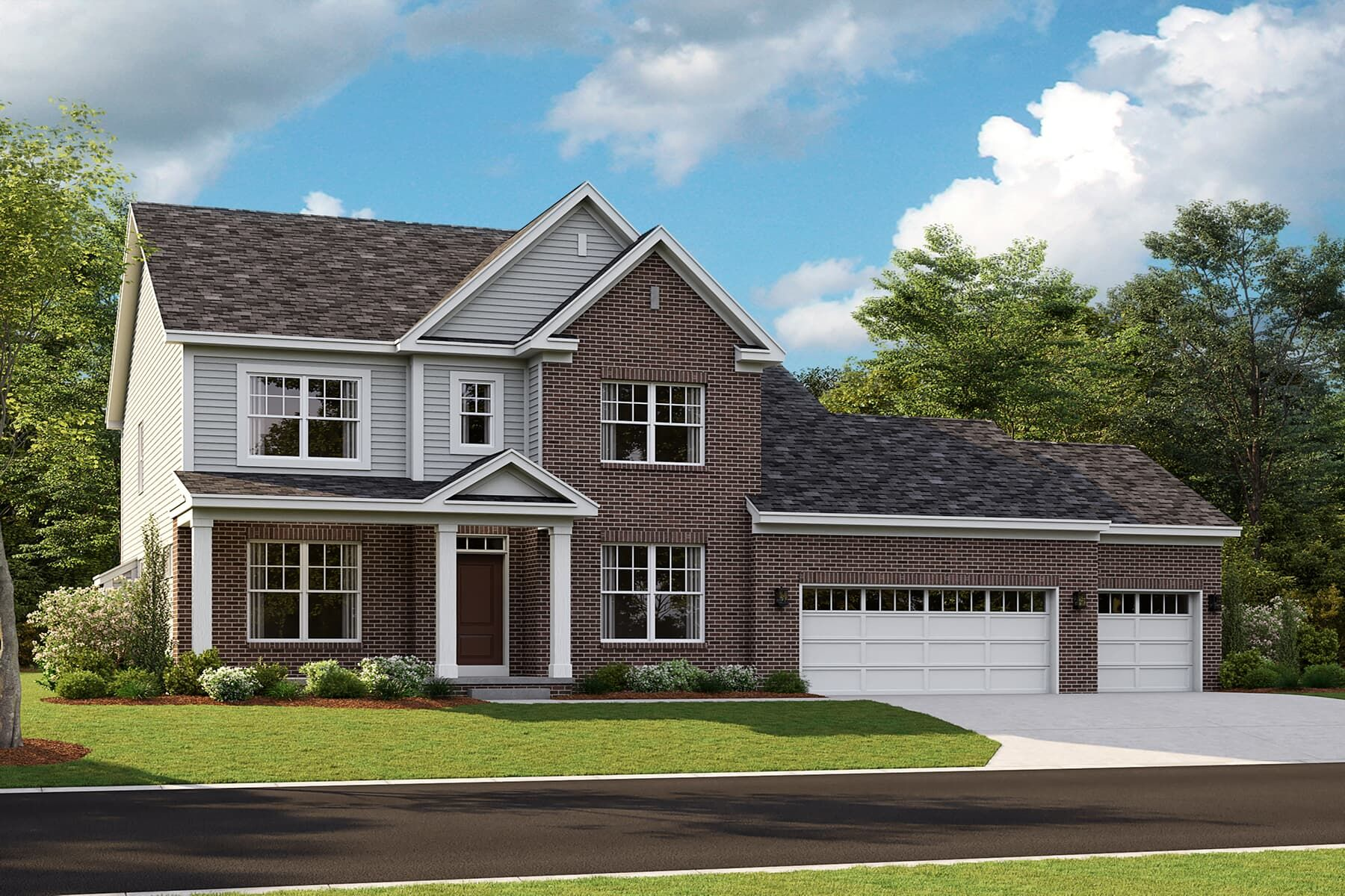 Exterior featured in the Rochester By M/I Homes in Detroit, MI