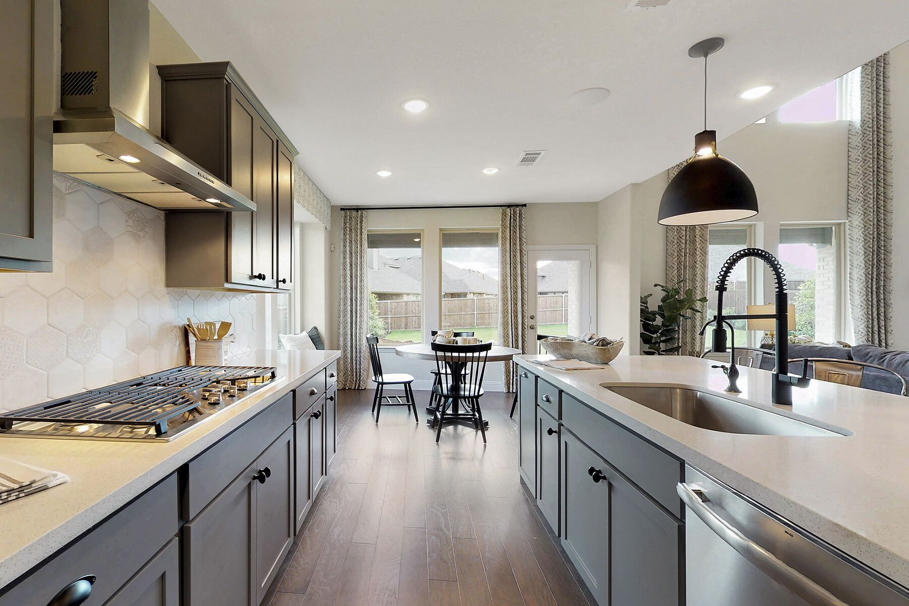 Kitchen featured in the Zacate By M/I Homes in Fort Worth, TX